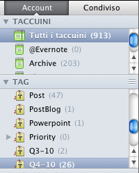 Tagging con Evernote