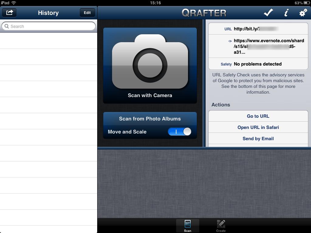 QR Code con Evernote - App per iOS