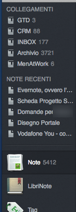 Evernote per Mac OSX